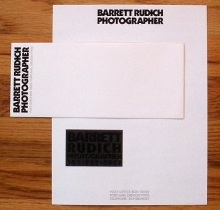 Barrett Rudich Photographer Stationery