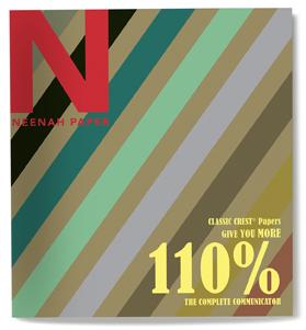 Neenah Paper 110% Promo Cover