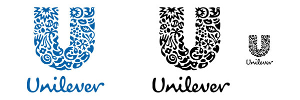 Unilever logo black & white and small