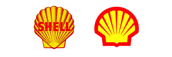 Evolution of the simplicity of the Shell logo