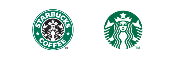 Starbucks logo old and new