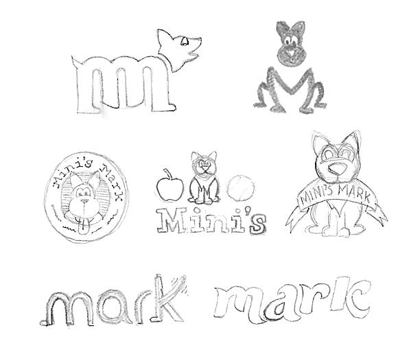 Logo sketches to explore more thoroughly